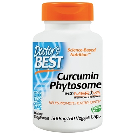 Doctor's Best - Curcumin Phytosome featuring Meriva 500 mg. - 60 Vegetarian Capsules