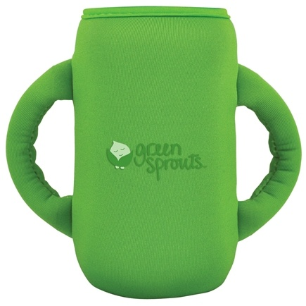 DROPPED: Green Sprouts - Neoprene Bottle Cover Sleeve Green