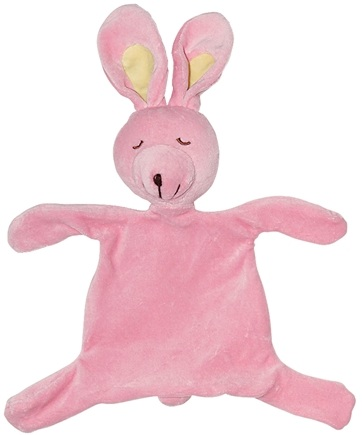 DROPPED: Green Sprouts - Organic Velour Blankie Animal 3+ Months Bunny Rose Pink