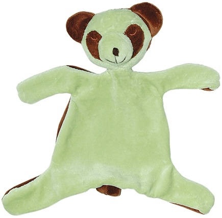 DROPPED: Green Sprouts - Organic Velour Blankie Animal 3+ Months Panda Sage Green