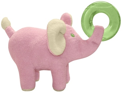 DROPPED: Green Sprouts - Organic Terry Circus Animal Teether 3+ Months Elephant Rose Pink