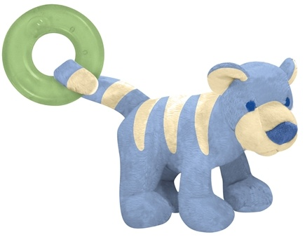 DROPPED: Green Sprouts - Organic Terry Circus Animal Teether 3+ Months Tiger Cornflower Blue