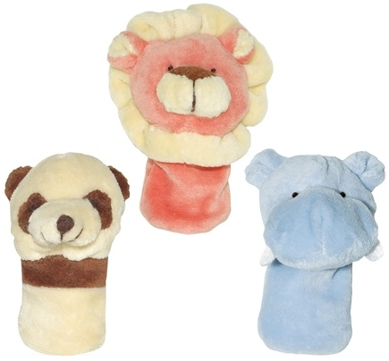 DROPPED: Green Sprouts - Organic Velour Finger Puppets 3+ Months Boys' Jungle Set - 3 Piece(s)