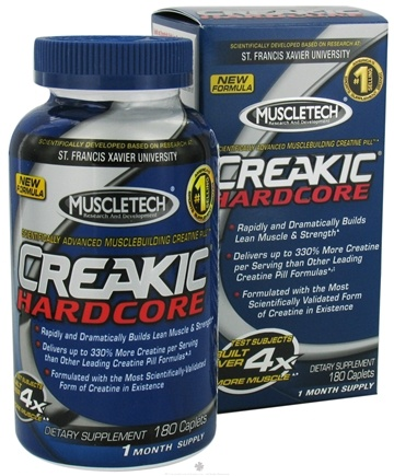 DROPPED: Muscletech Products - Creakic Hardcore Musclebuilding Creatine - 180 Caplets