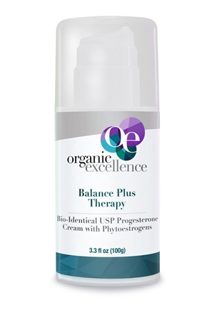 Organic Excellence - Balance Plus Therapy Bio-Identical Progesterone Cream Pump Fragrance-Free - 3 oz.