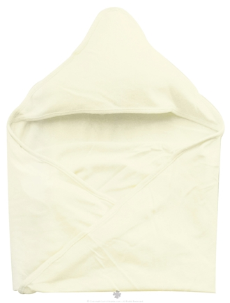 "DROPPED: Green Sprouts - Organic Cotton Knitted Hooded Towel 30"" x 30"" Cream"