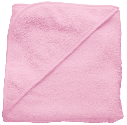 """DROPPED: Green Sprouts - Organic Woven Terry Hooded Towel 29.5"""" x 29.5"""" Rose Pink"""