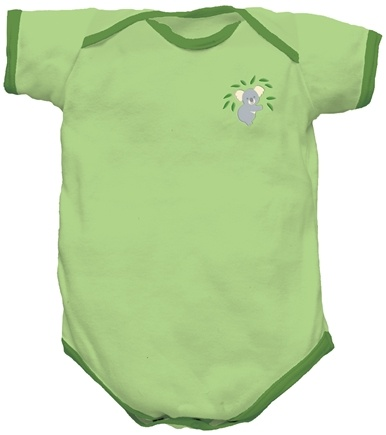 DROPPED: Green Sprouts - Origins Organic Bodysuit Short Sleeve Small 3-6 Months Sage Green