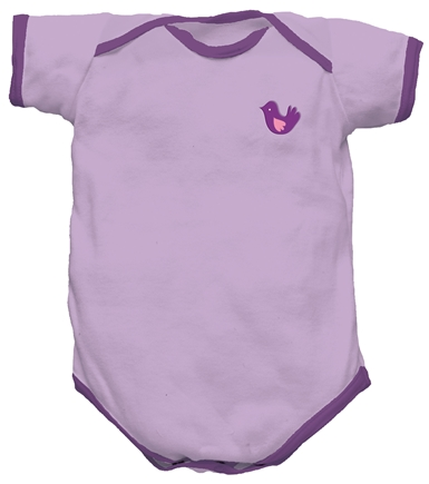 DROPPED: Green Sprouts - Origins Organic Bodysuit Short Sleeve Newborn 0-3 Months Lavender