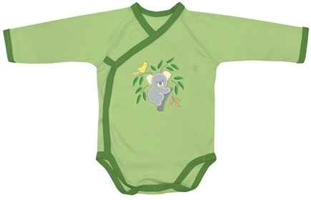 DROPPED: Green Sprouts - Origins Organic Bodysuit Long Sleeve Wrap Newborn 0-3 Months Sage Green