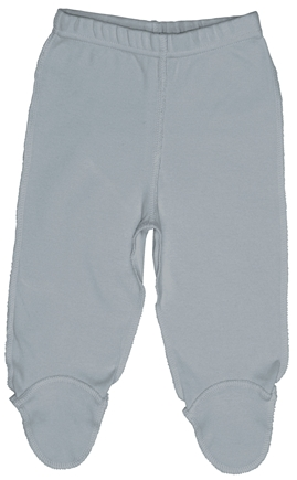 DROPPED: Green Sprouts - Origins Organic Footie Pants Medium 6-12 Months Grey