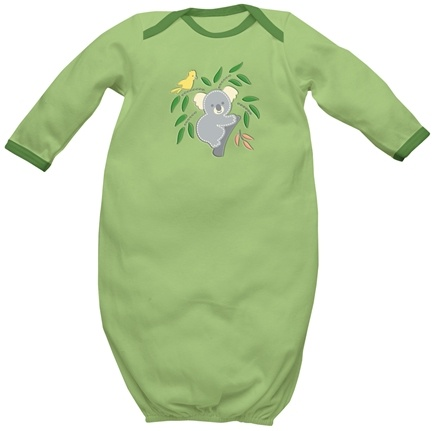 DROPPED: Green Sprouts - Origins Organic Baby Gown Newborn 0-3 Sage Green