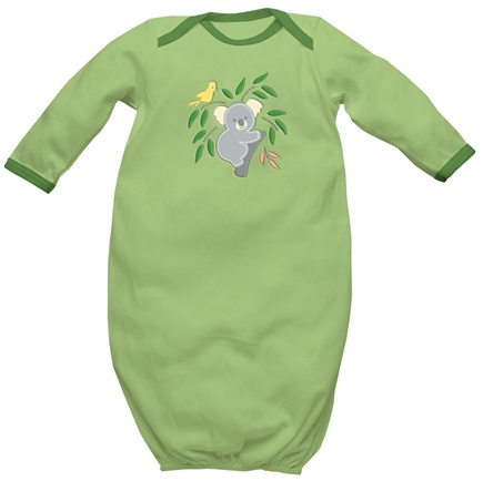 DROPPED: Green Sprouts - Origins Organic Baby Gown Small 3-6 Months Sage Green