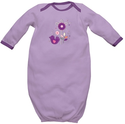 DROPPED: Green Sprouts - Origins Organic Baby Gown Small 3-6 Months Lavender