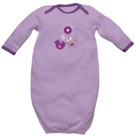 DROPPED: Green Sprouts - Origins Organic Baby Gown Medium 6-12 Months Lavender