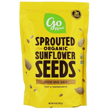 Go Raw - Sprouted Sunflower Seeds with Celtic Sea Salt - 16 oz.