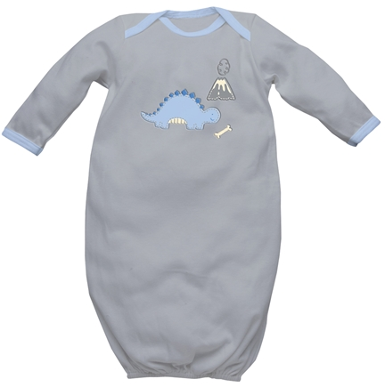 DROPPED: Green Sprouts - Origins Organic Baby Gown Medium 6-12 Months Grey