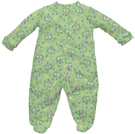 DROPPED: Green Sprouts - Origins Organic Footies Newborn 0-3 Months Koala Sage Green