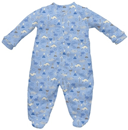 DROPPED: Green Sprouts - Origins Organic Footies Newborn 0-3 Months Dino Cornflower Blue