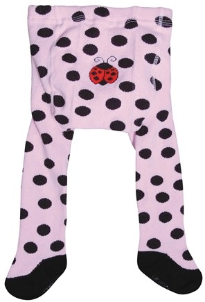DROPPED: Green Sprouts - Organic Cotton Crawlers Lady Bug Large 18 Months Pink & Black
