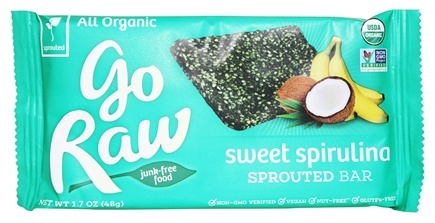 Go Raw - Sprouted Bar Spirulina - 1.7 oz. LUCKY PRICE