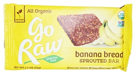 Go Raw - Sprouted Bar Banana Bread - 1.2 oz.