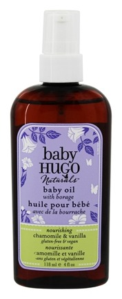 DROPPED: Hugo Naturals - Hugo Baby Oil Calming Vanilla Chamomile - 4 oz. CLEARANCE PRICED