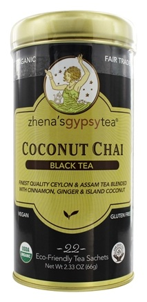Zhena's Gypsy Tea - Black Tea Coconut Chai - 22 Tea Bags
