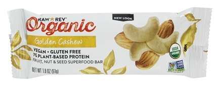 Raw Revolution - Organic Live Food Bar with Sprouted Flax Seeds Golden Cashew - 1.8 oz.