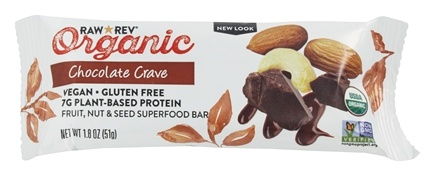 Raw Revolution - Organic Live Food Bar with Sprouted Flax Seeds Chocolate Crave - 1.8 oz.