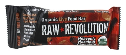 Raw Revolution - Organic Live Food Bar Heavenly Hazelnut Chocolate - 1.8 oz.