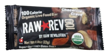 Raw Revolution - Organic Live Food Bar Raw Rev 100 Calorie Chocolate Crave - 0.8 oz.