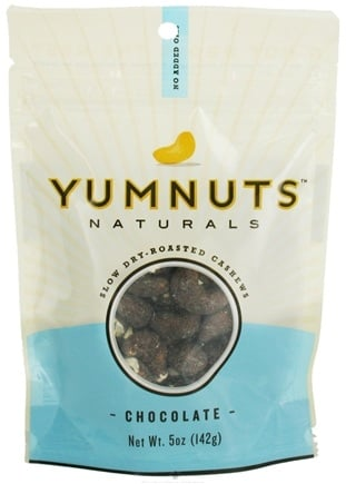 DROPPED: Yumnuts Naturals - Slow Dry-Roasted Cashews Chocolate - 5 oz.