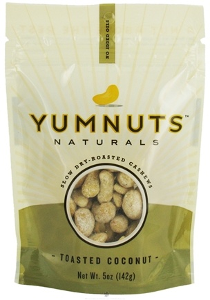 DROPPED: Yumnuts Naturals - Slow Dry-Roasted Cashews Toasted Coconut - 5 oz.