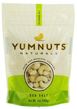 DROPPED: Yumnuts Naturals - Slow Dry-Roasted Cashews Sea Salt - 5 oz.