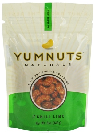 DROPPED: Yumnuts Naturals - Slow Dry-Roasted Cashews Chili Lime - 5 oz.
