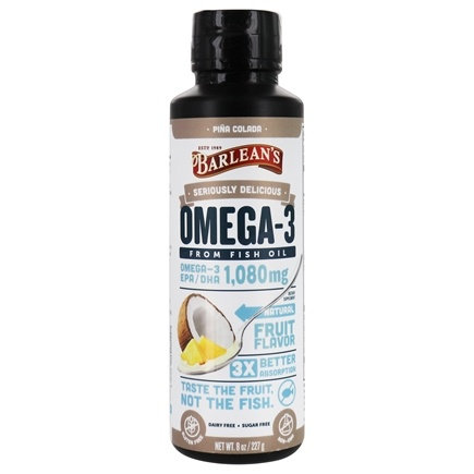 DROPPED: Barlean's - Omega Swirl Omega-3 Fish Oil Pina Colada - 8 oz. CLEARANCE PRICED