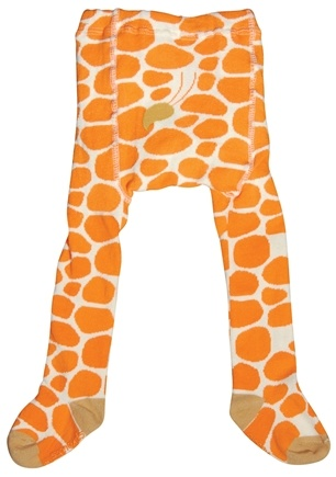 DROPPED: Green Sprouts - Organic Cotton Crawlers Giraffe Small 6 Months White & Orange