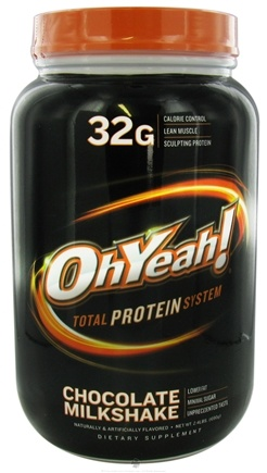 DROPPED: ISS Research - OhYeah Total Protein System Chocolate Milkshake - 2.4 lbs. CLEARANCE PRICED