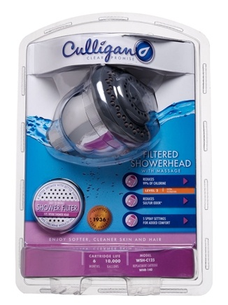 DROPPED: Culligan - Filtered Showerhead with Massage WSH-C125 - CLEARANCE PRICED