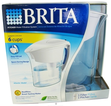 DROPPED: Brita - Pitcher Water Filtration System Atlantis Model - 48 oz. CLEARANCE PRICED