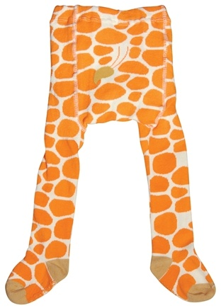 DROPPED: Green Sprouts - Organic Cotton Crawlers Giraffe Medium 12 Months White & Orange