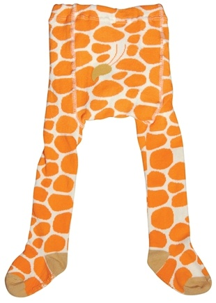 DROPPED: Green Sprouts - Organic Cotton Crawlers Giraffe Large 18 Months White & Orange