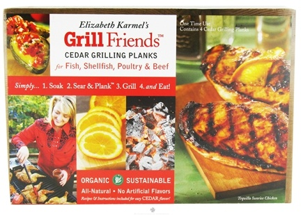 DROPPED: Elizabeth Karmel's - Grill Friends Personal Organic Cedar Grilling Planks - 4 Pack CLEARANCE PRICED