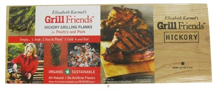 DROPPED: Elizabeth Karmel's - Grill Friends Organic Hickory Grilling Planks for Poultry and Pork - 2 Pack CLEARANCE PRICED