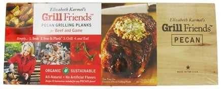 DROPPED: Elizabeth Karmel's - Grill Friends Organic Pecan Grilling Planks for Beef and Game - 2 Pack CLEARANCE PRICED