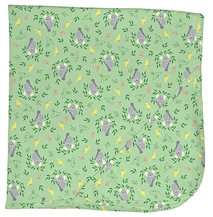 "DROPPED: Green Sprouts - Origins Organic Receiving Blanket 30"" x 30"" Koala Sage Green"