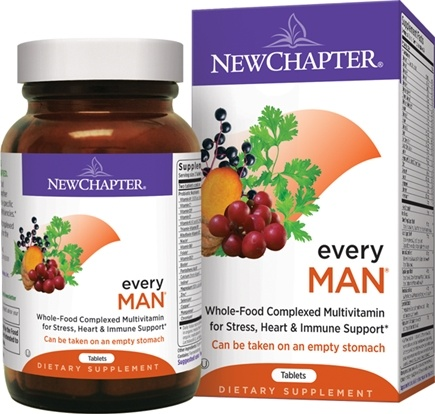 DROPPED: New Chapter - Every Man Whole-Food - 48 Tablets CLEARANCE PRICED