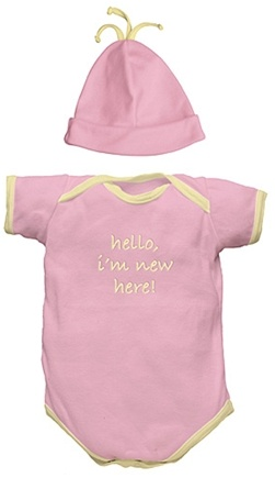 """DROPPED: Green Sprouts - """"I'm New"""" Organic Gift Set Small 6 Months Rose Pink - 2 Piece(s)"""