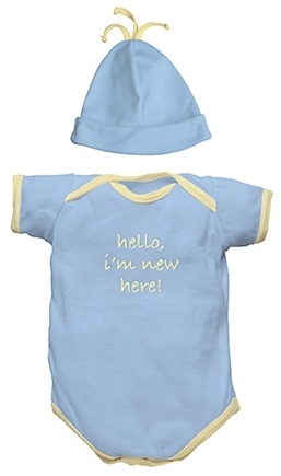 "DROPPED: Green Sprouts - ""I'm New"" Organic Gift Set Small 6 Months Cornflower Blue - 2 Piece(s)"
